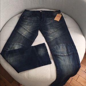 Men's True Religion Brand biker/Moro style jeans
